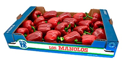 box of Spanish tomatoes